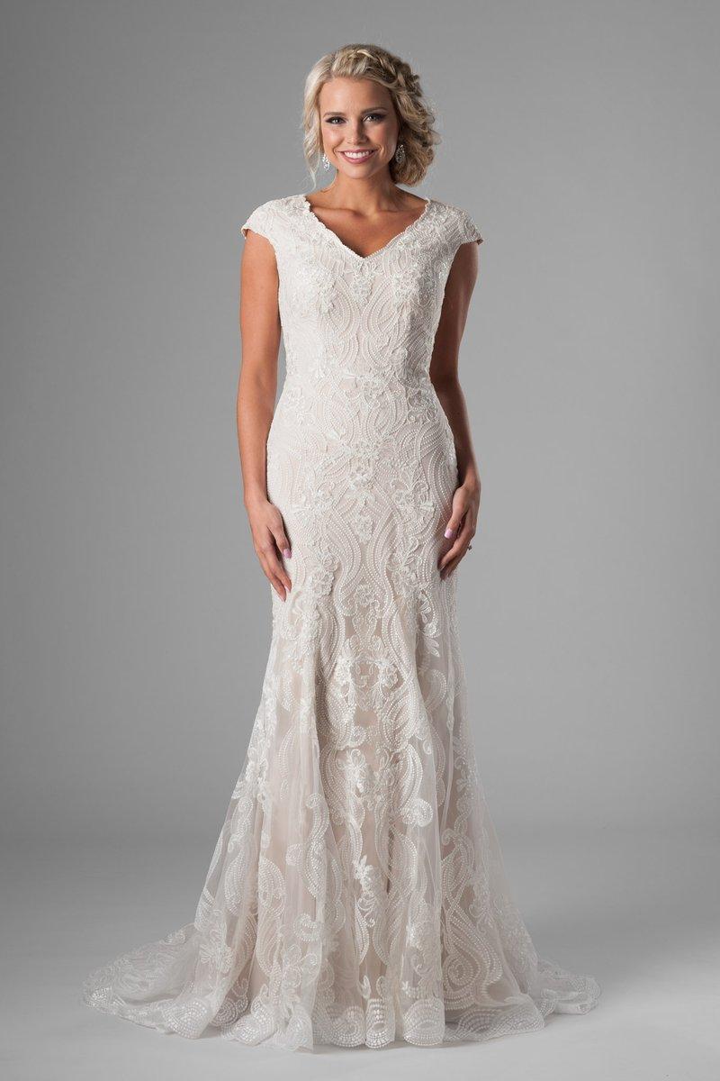 25 Modest Mermaid Wedding Dresses