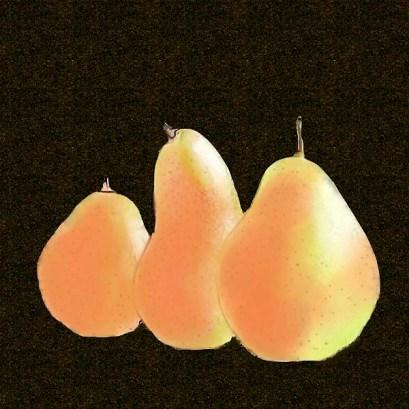 pears-watercolor brush