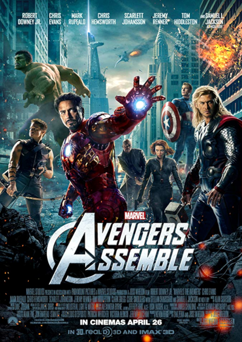 Movie poster for the Avengers 2012 ldwolff