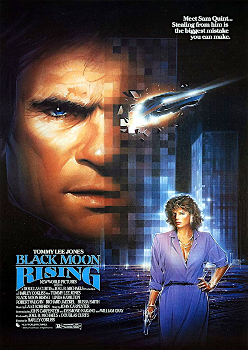 Movie poster for Black Moon Rising 1986 ldwolff