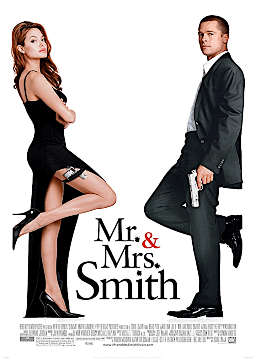 Movie poster for Mr. & Mrs. Smith 2005 ldwolff