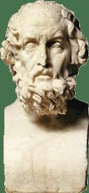 Homère buste Musée du Louvre