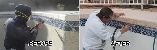 pool deck repair pool tile repair