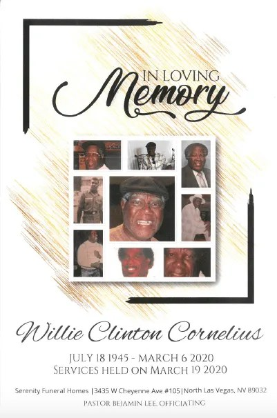 Funeral Homes In Adel Ga : funeral, homes, Willie, Cornelius