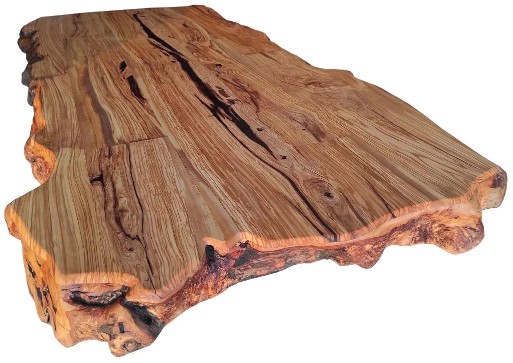 plateaux table bois massif brut avec