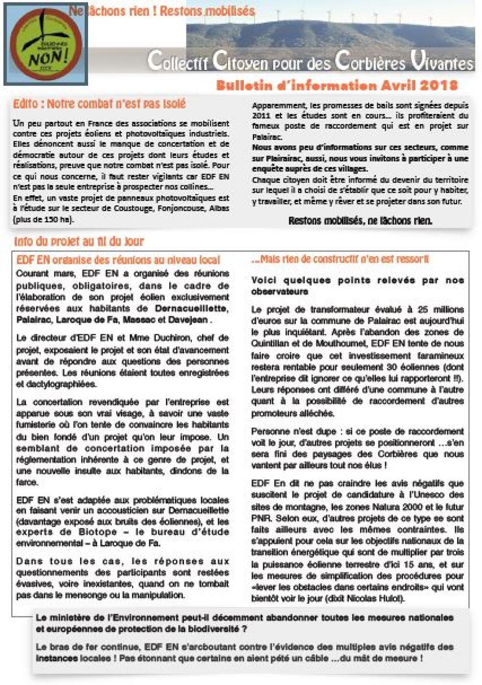Eoliennes sur les Corbières : une fois de plus la consultation du public laisse à désirer !