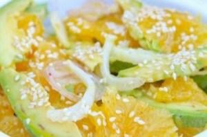 La salade d'avocat, fenouil et orange