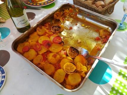 Le rôti de poissons et légumes de Jean Claude