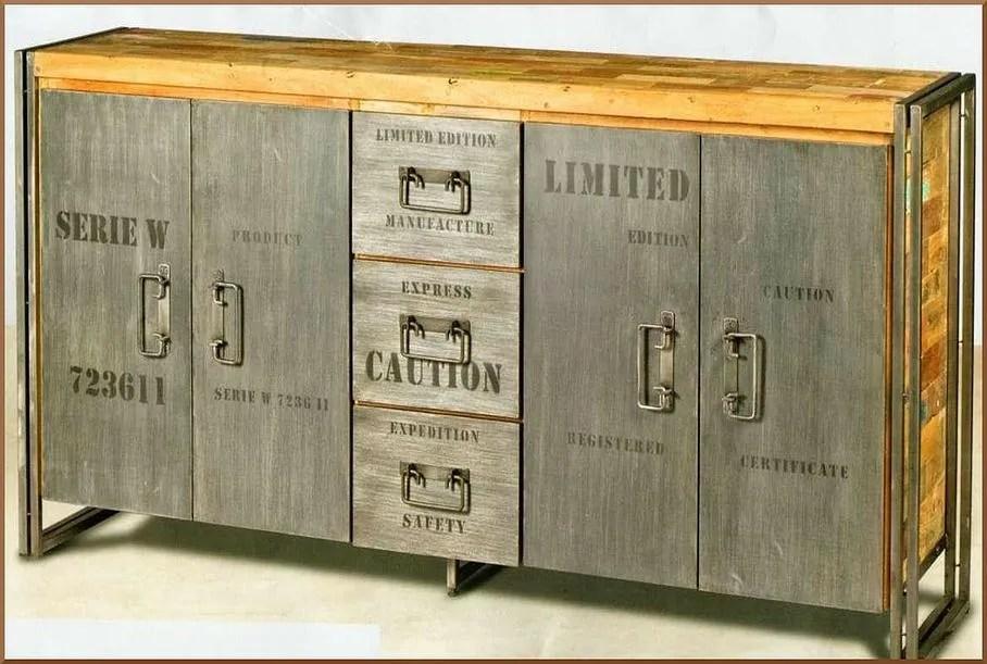 meubles en bois de bateaux recycles a
