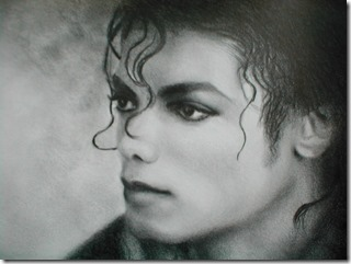 Portrait graphite Mickael Jackson