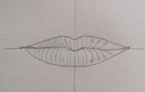 Sens des ombres dessin bouche réaliste