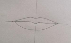 Tracé final dessin bouche réaliste