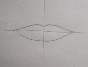 Tracé bouche dessin réaliste