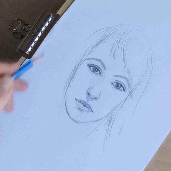 Comment dessiner un visage en moins de 10 mn ?