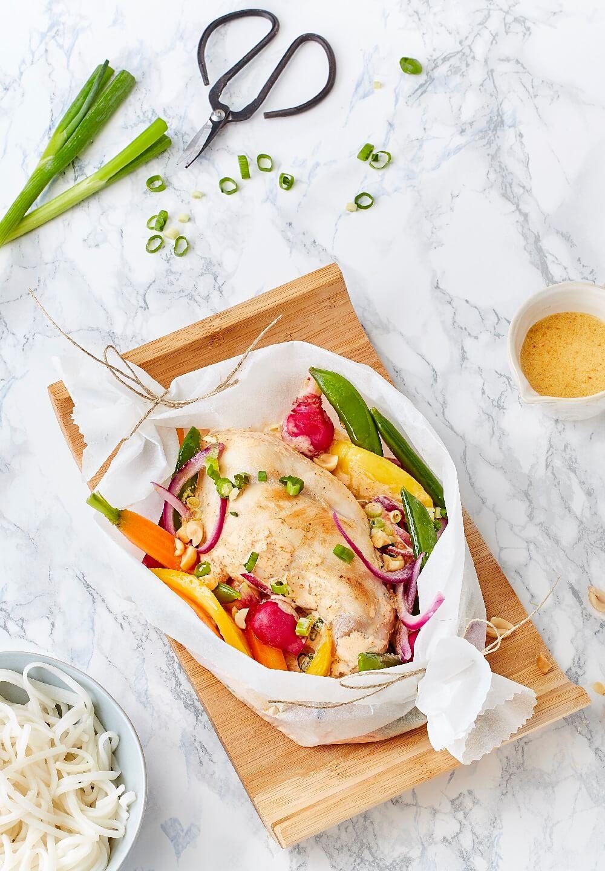 Cuisse De Lapin En Papillote : cuisse, lapin, papillote, Papillote, Lapin, Citronnelle, Petits, Légumes, Primeurs