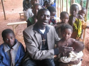 Joshua hanging out with Congolese Orphans