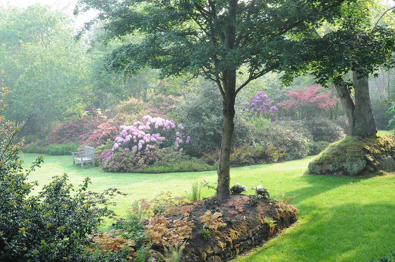Le Jardin Anglais  la face romantique du Jardin de Pellinec