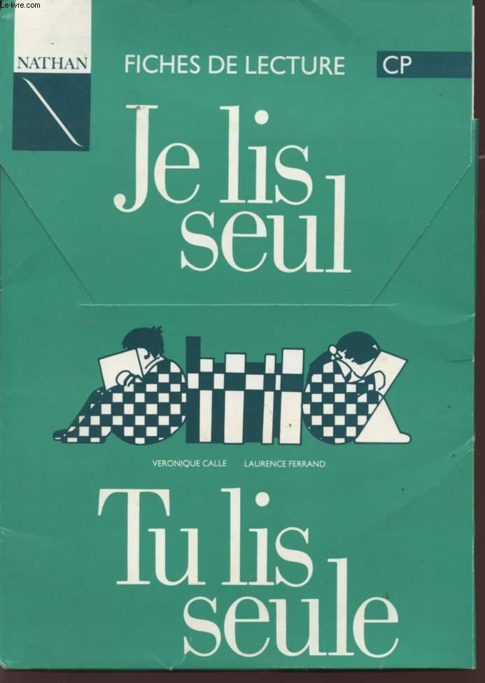 Je Lis Seul Tu Lis Seul : FICHES, LECTURE, SEULE, CLASSE, SEPCIMEN., CALLE, VERONIQUE, FERR..., Achat, Livres, R320006372, Le-livre.fr