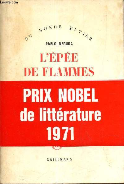 Nobel De Litterature En 1971 : nobel, litterature, Neruda, Pablo