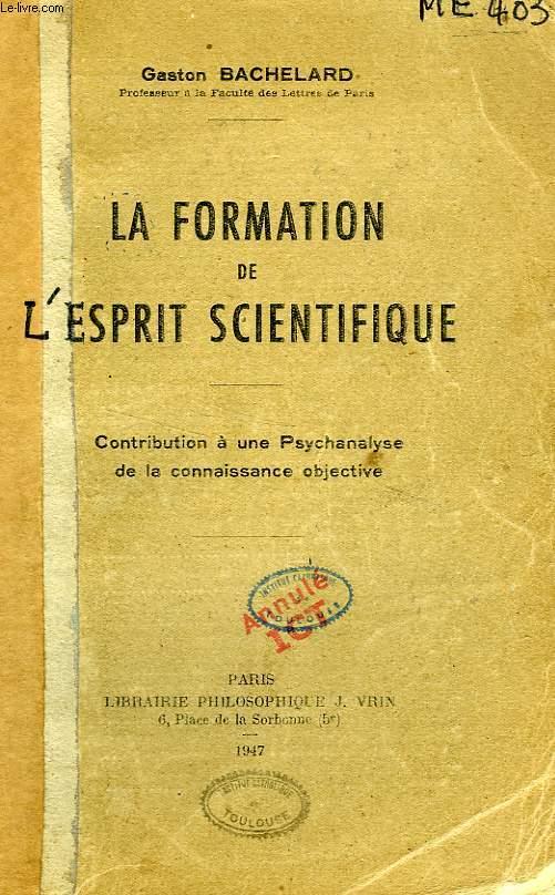 Bachelard La Formation De L'esprit Scientifique Pdf : bachelard, formation, l'esprit, scientifique, Gaston, Bachelard,, Formation, L'esprit, Scientifique, Robin, Guilloux