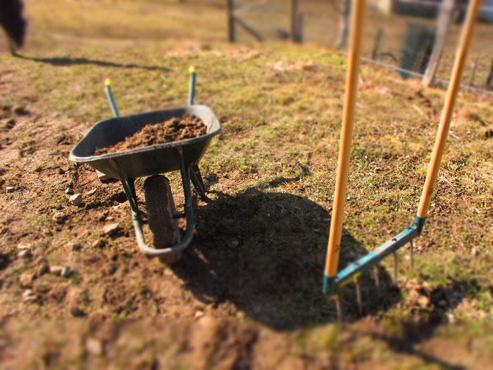 préparation du sol potager