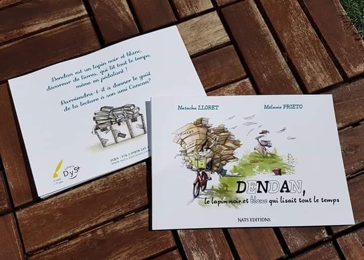 Dendan, le lapin noir et blanc qui lisait tout le temps               Natacha Lloret