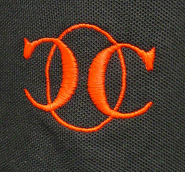 détail broderie orange