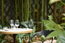 Hotel Amour Restaurant Patio Luxuriantle Polydre