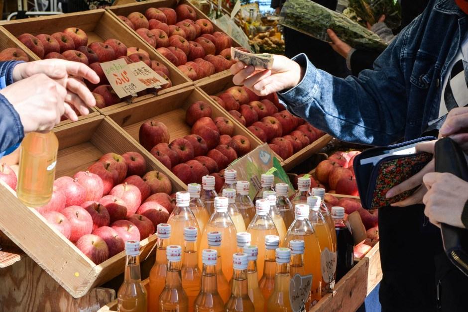 voyage tokyo marché bio aoyama farmer's market