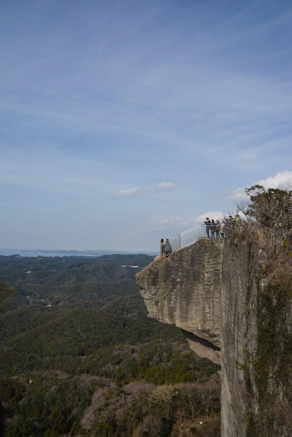 Le mont Nokogiriyama dans la prefecture de Chiba au Japon