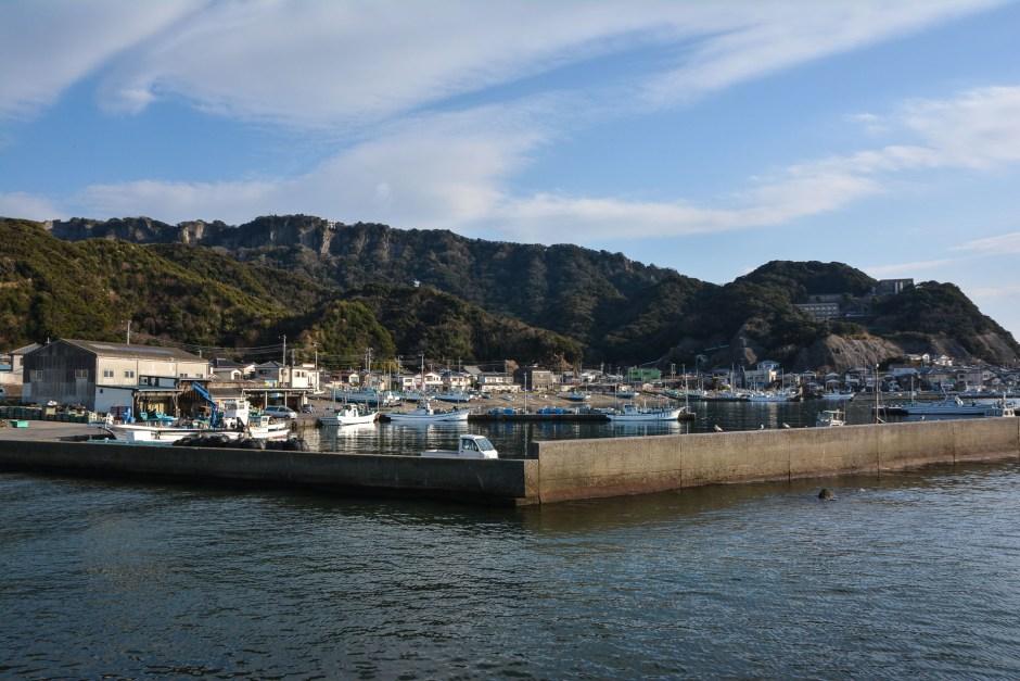 petit port de pêche de Hama-Kanaya dans la prefecture de Chiba au Japon, tout près de Tokyo et du mont Nokogiriyama
