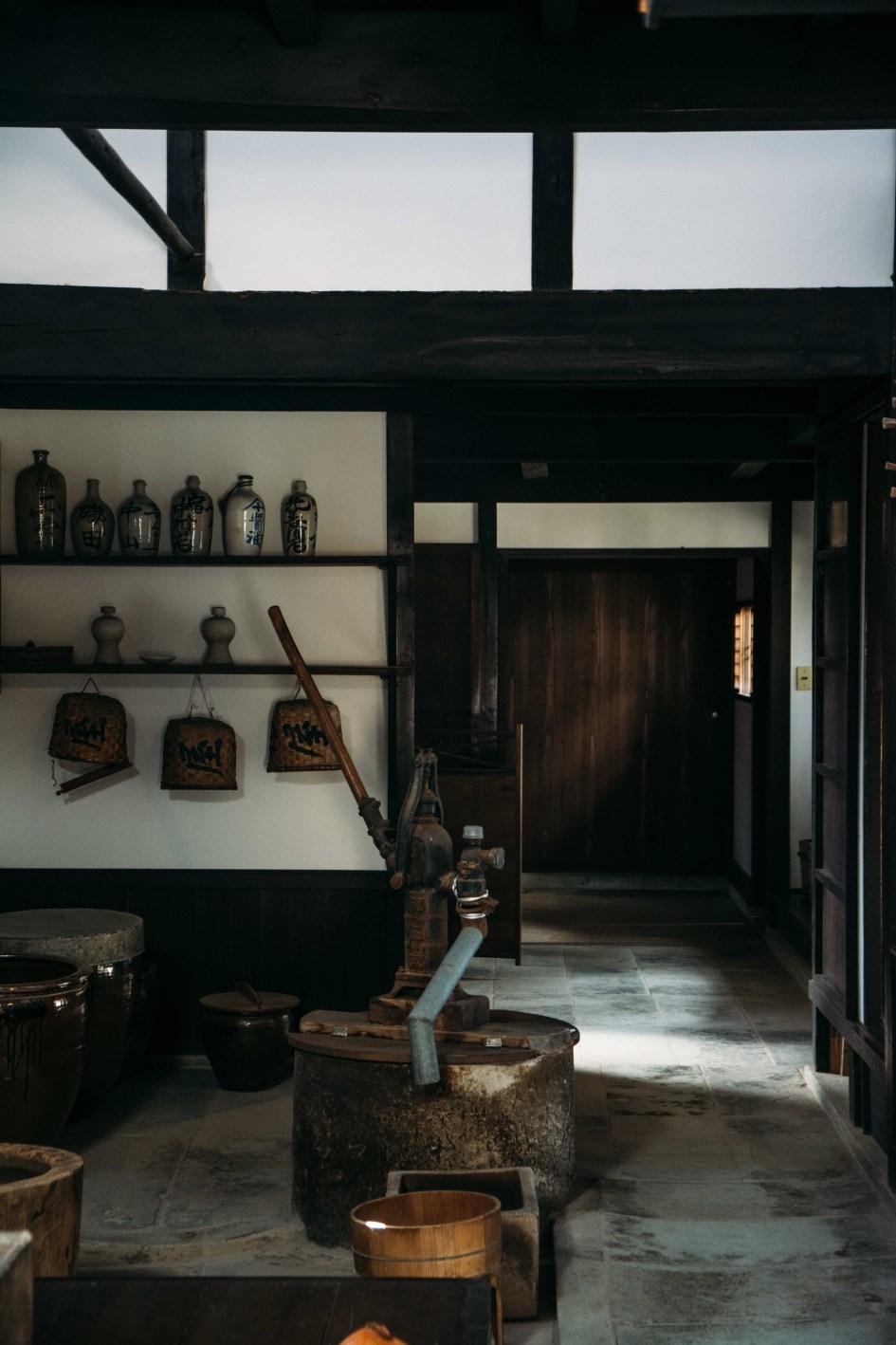 la maison de marchands de la famille Kishina à Mikuni Minato dans la préfecture de Fukui au Japon