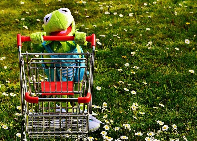 Kermit fait des courses