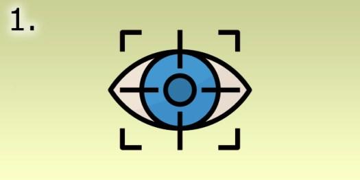 oeil focalisé