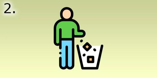 jeter à la poubelle
