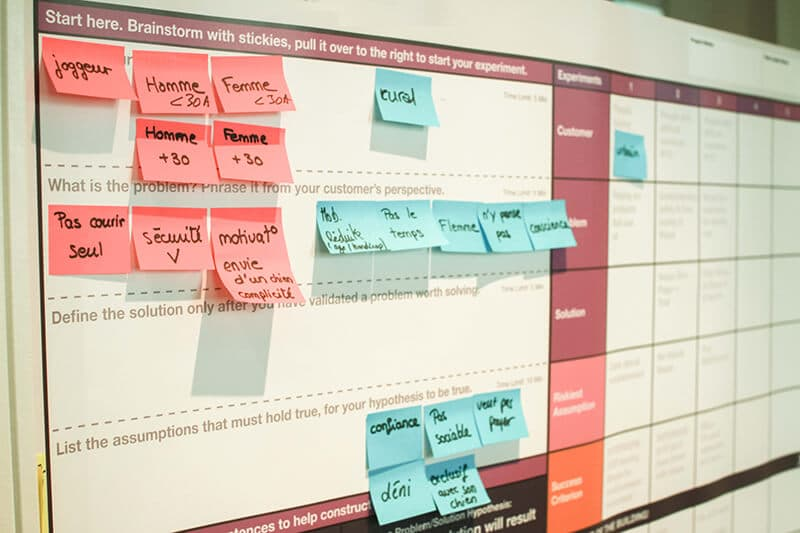 lean startup change tout validation board