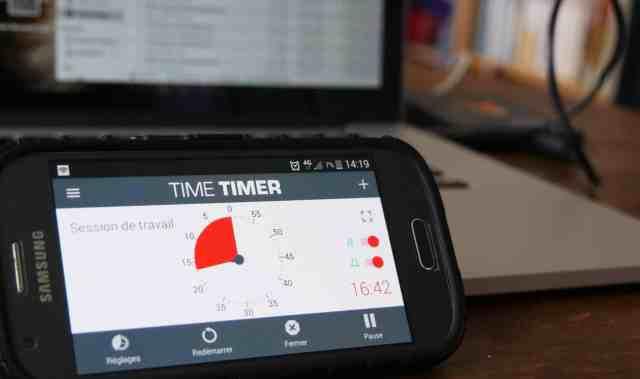 Time timer adapté pour le TDAH