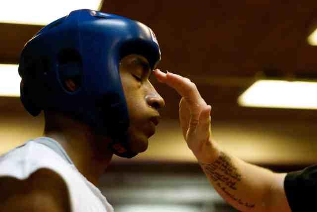 tension et coach avant un combat