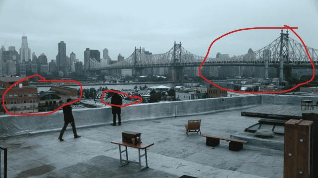 Elementary scène sur le toit