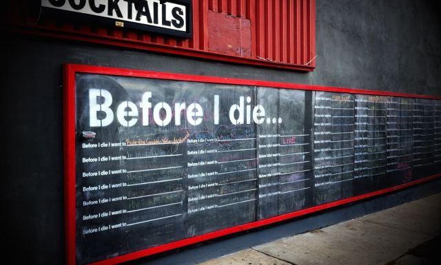 Avant de mourir...