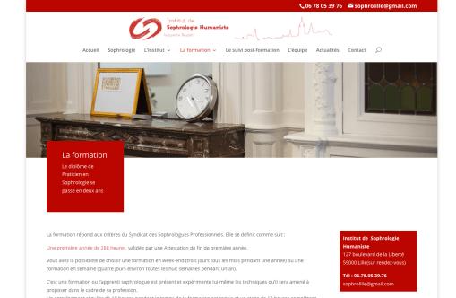 Refonte du site de l'Institut de Sophrologie de Lille