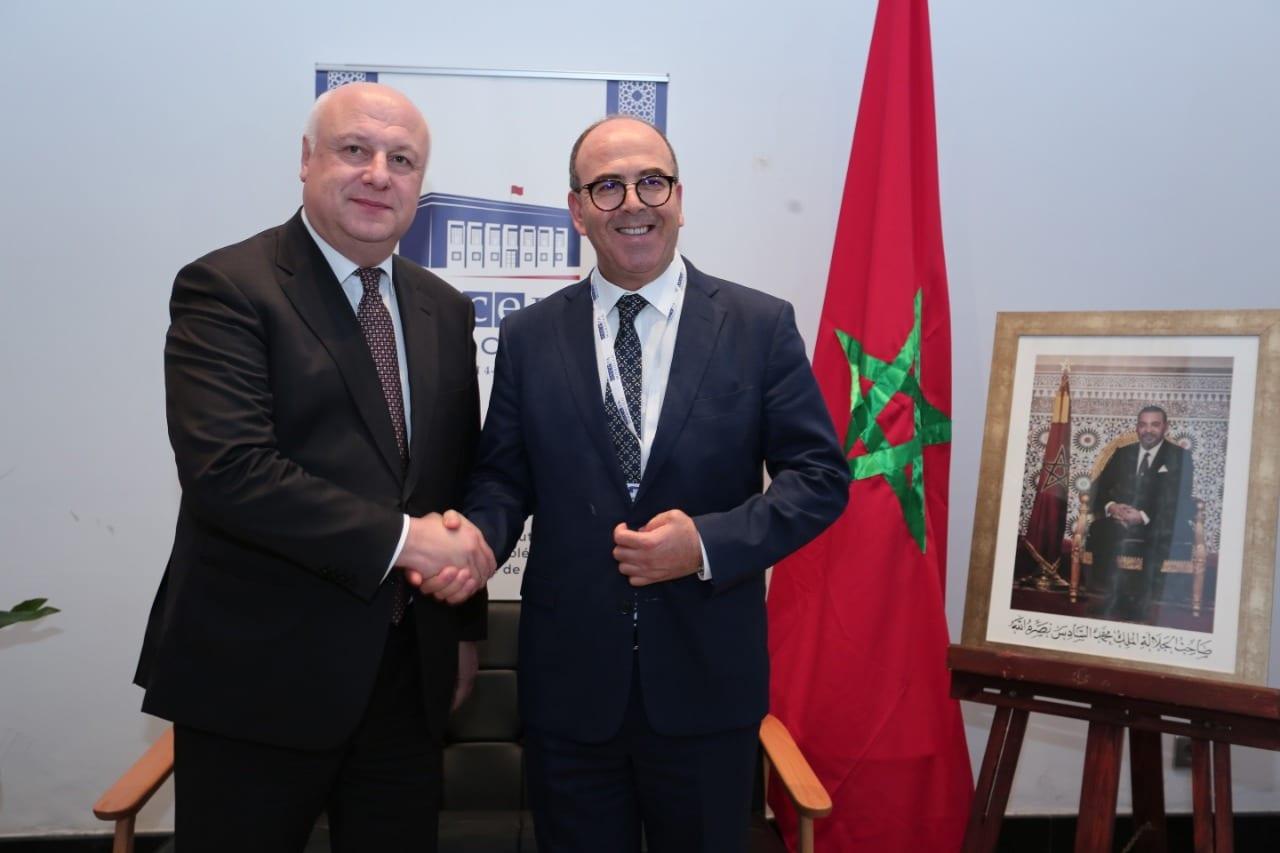 بنشماش  رفقة رئيس الجمعية البرلمانية لمنظمة الأمن والتعاون في أوروبا جورج تسيريتيلي