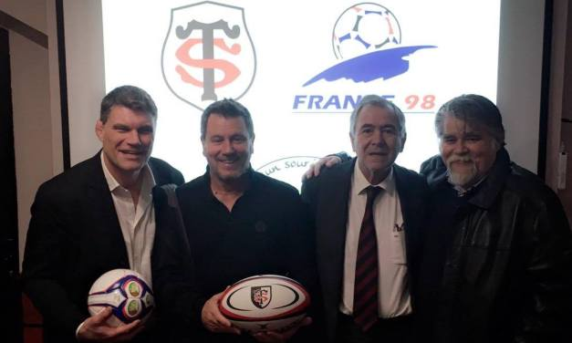 Footballeurs et rugbymen unis contre la maladie