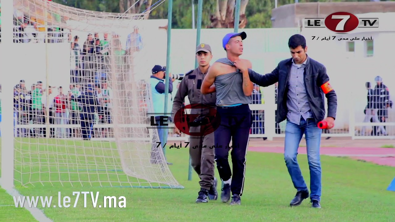 الشرطة تلقي القبض على أحد مشجعي أولمبيك خريبكة هاجم جماهير الرجاء.