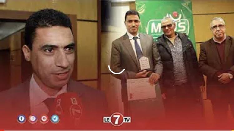"""الحكم """" نور الدين الجعفري"""" ..."""" شرف لي تكريمي اليوم وأتمنى نشرف التحكيم المغربي في البطولة"""""""