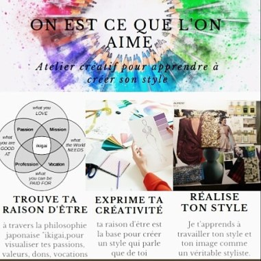 atelier créatif pour apprendre à créer son style au 8 Petion à Paris dans le 11è