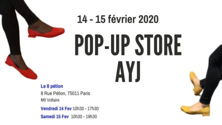 un pop up store fin de collection hivers de la marque AYJ au 8 Petion