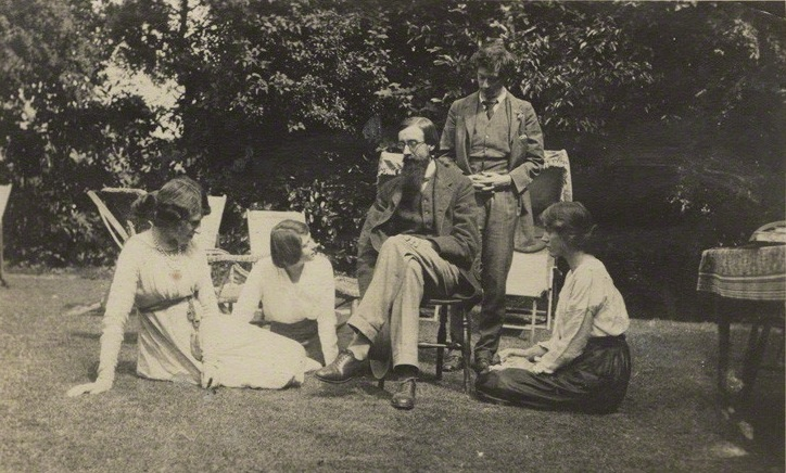 NPG Ax140432; Lady Ottoline Morrell; Maria Huxley (nÈe Nys); Lytton Strachey; Duncan Grant; Vanessa Bell (nÈe Stephen) by Unknown photographer