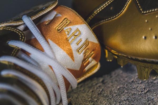 charles-woodson-gold-air-jordan-7-cleats