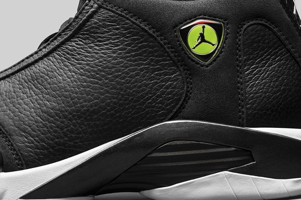 AIR-JORDAN-14-RETRO-BLACK-VIVID-GREEN-DETAIL